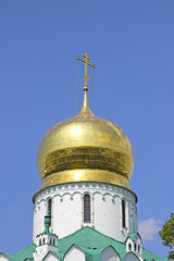 Gilded dome of the Christian church