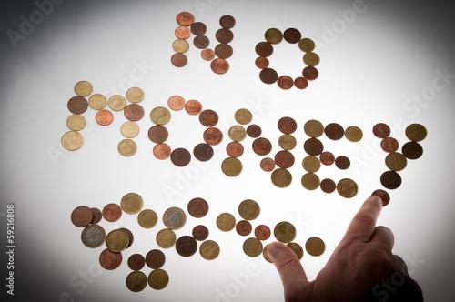 Monete spicciole in portafoglio