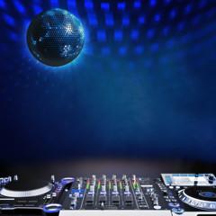 Disco music stage advertisement background