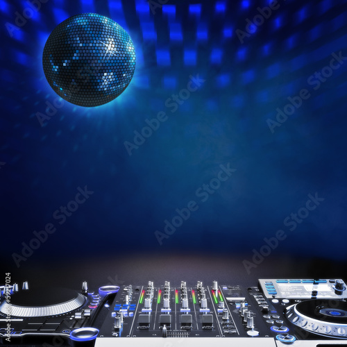 Disco music stage advertisement background