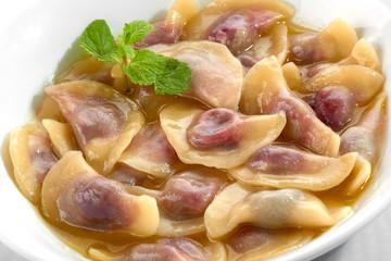 dumplings with cherry