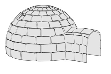 cartoon image of igloo building