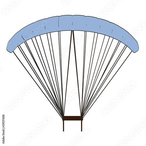 cartoon image of parachute