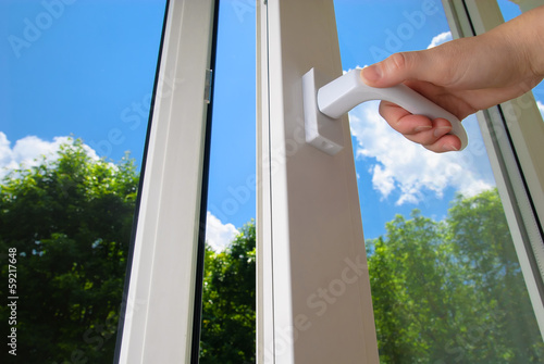 canvas print picture plastic window