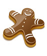 Sweet chocolate biscuit human for christmas holiday. Eps10