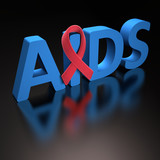 Red Ribbon AIDS. Clipping path included.