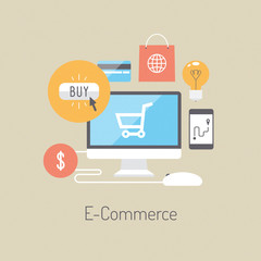 E-commerce flat illustration concept