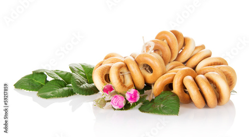 Linking bagels and buds of rose