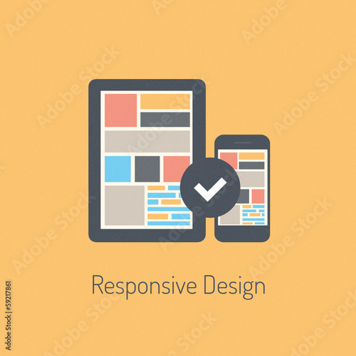 Flat responsive design illustration