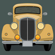 Vintage, retro car, vector illustration