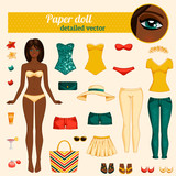 Cute dress up paper doll.
