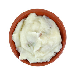 Serving Mashed Potato Top View