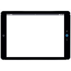Tablet-PC im Querformat als Kopiervorlage