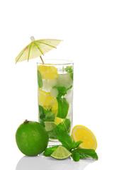 The glass of cold mojito