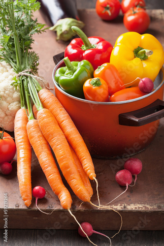 various fresh vegetable in casserole
