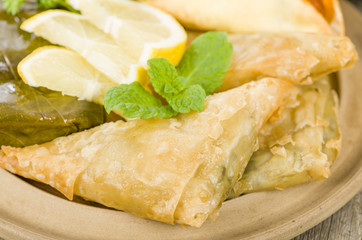 Arab Snacks - Sarma, borek and fatayer.