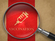 Vaccination Concept: Magnifying Glass