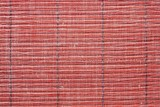Texture of a red straw mat