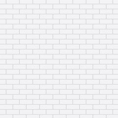 White brick wall, vector background
