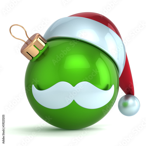 Christmas ball ornament Santa New Years Eve bauble decoration
