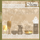 Beige restaurant menu design