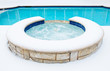 Hot tub spa in the winter - 59222695