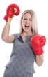 Powerfrau in Beruf und Karriere - Frau boxt sich durch