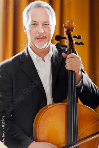 Man playing viola