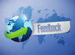 global feedback sign illustration design