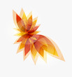 vector eps10 background with autumn leaves