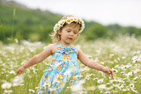 girl in the daisy field