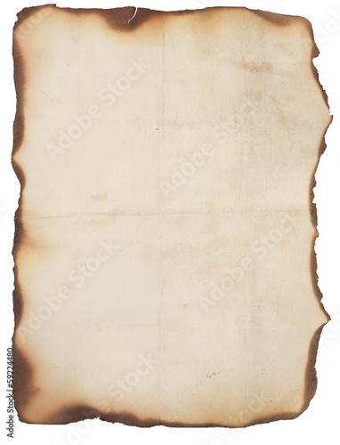 Very Old Paper With Burned Edges