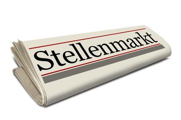 Zeitungsrolle mit Stellenmarkt