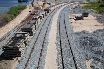 new railway construction