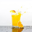 Splashing orange drink