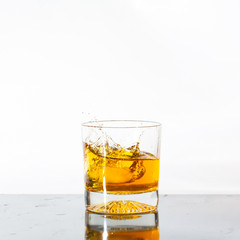 Splashing whisky