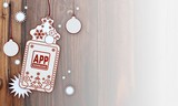 xmas coupon with app download sign
