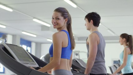 3of27 People training in fitness club, gym and sport activity