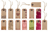 Gift Tag Selection - Love Hearts