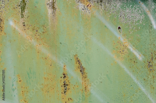 Green rusty sheet metal