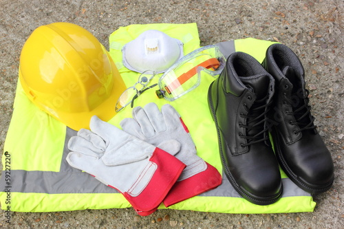 canvas print picture A collection of Personal protection equipment
