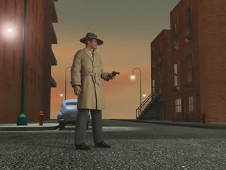 Detective de los años 40