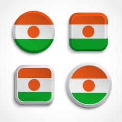 Niger flag icons