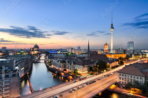 canvas print picture Berlin Skyline Panorama