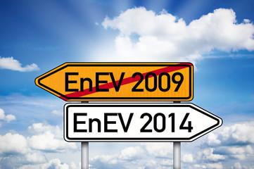 Wegweiser mit EnEV 2009 und EnEV 2014