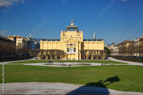 Zagreb capital of Croatia, art gallery