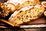 Christmas Stollen. Traditional Sweet Fruit Loaf - 59229499
