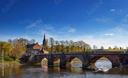 Fotobehang Bruggen river dee chester