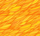 Orange vector doodle hair seamless pattern