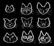 猫の顔セット